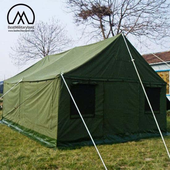 cheaper cc140 fc9d1 5.5X5.5m Army Waterproof Cotton Canvas Tent with Stove Jack