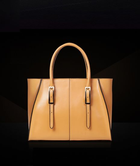 Factory OEM Classical Style Contrast Color PU Leather Fashion Lady Handbags 34da2bdf3c9d6