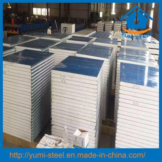 Color Steel EPS Foam Insulation Roof/Wall Metal Sandwich Panels
