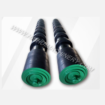 Carbon Steel Rubber Disc Return Roller for Belting Conveyor pictures & photos