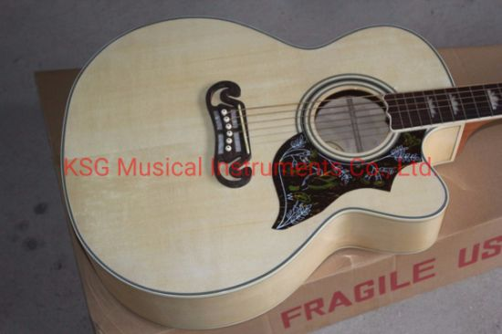 Kevin Shi Guitars Ksg Chibson J200 Acoustic Guitar GB Sj200 Na Acoustic  Electric Guitar OEM Natural Wood J200 Acoustic Hummingbird Pickguard  Acoustic