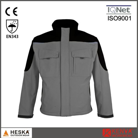 Contrast Cargo Heavy Duty Softshell Work Coat pictures & photos
