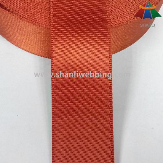 1.5 Inch Orange-Red Twill Side Locking Nylon Webbing