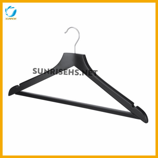 Black Color Top Clothing Wooden Hanger pictures & photos