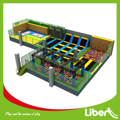 TUV Approved Cheap Price Kids Indoor Trampoline and Soft Play Park pictures & photos