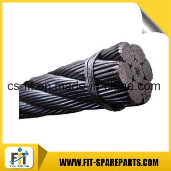 China Steel Wire Rope for Tower Crane Parts - China Zoomlion Steel ...