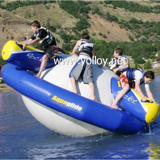 Inflatable Saturn Rocker Water Park Toy