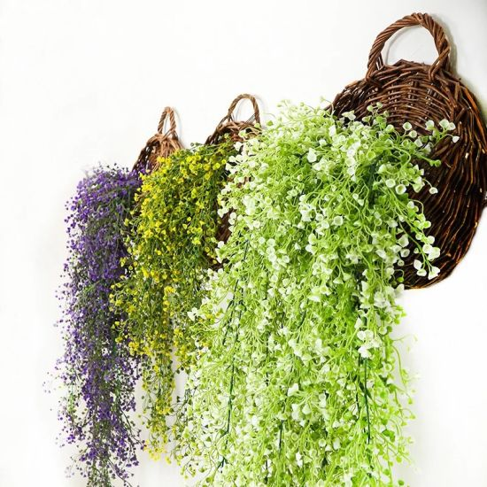 Export Evergreen Wall Plant Home Decoration Artificial Silk Flower pictures & photos