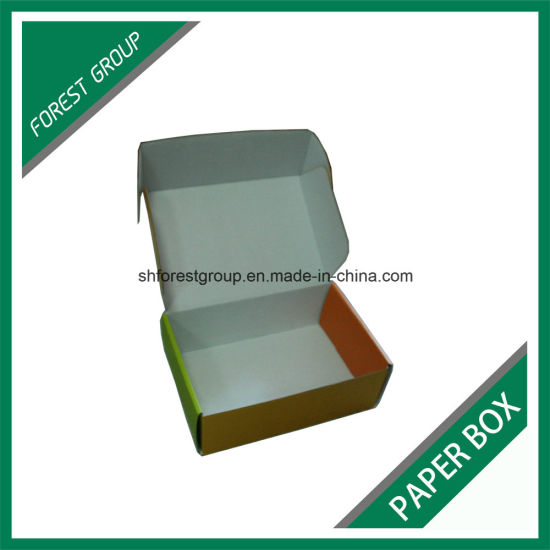 Matt White Corrugated Paper Box for Toys Packaging and Shipping