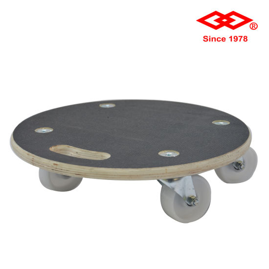 High Quality Round Wooden Transport Dolly