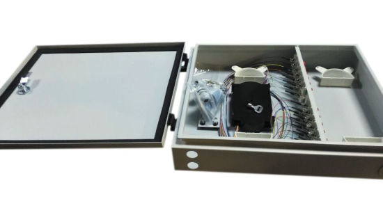 Outdoor Wall Mounted 24 Port Telecom Metal Fiber Optic Distribution Cabinet pictures & photos