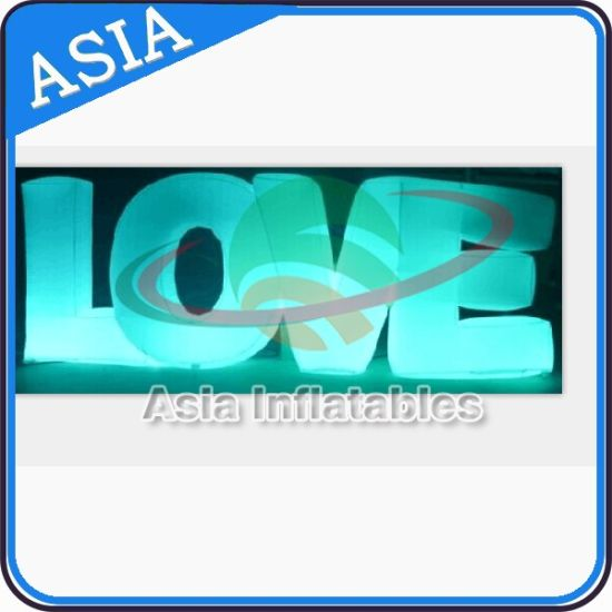 led decoration inflatable love letters model for wedding