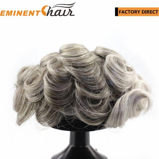 China Hand Making Human Hair Men′s Custom