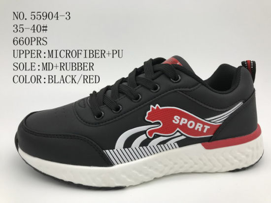 Microfiber Upper Lady Sport Outdoor Stock Shoes