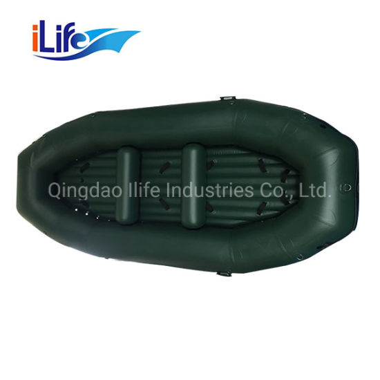 Ilife Colorful Rafting PVC Water Fly Inflatable Boat PVC/Hypalon White Fishing Whitewater River I-Beam Floor Self Baling Rafting with OEM Service