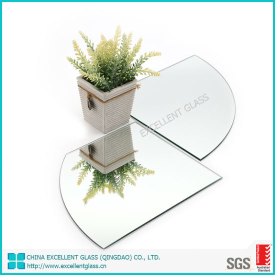 Polished Edge Silver Mirror for Decoration with Cat II