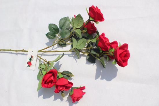 Ake Silk Flowers Artificial Rose Wedding Party Home Decor Flower Arrangement