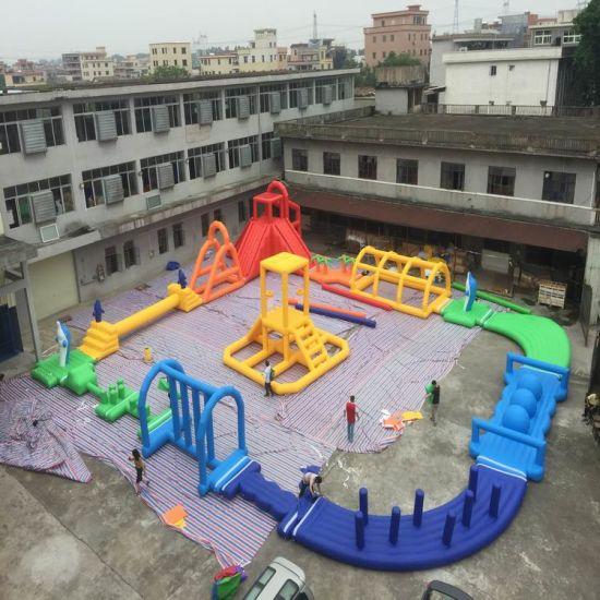 Inflatable Sea Water Park Equipment Floating Playground Aqua Theme Park
