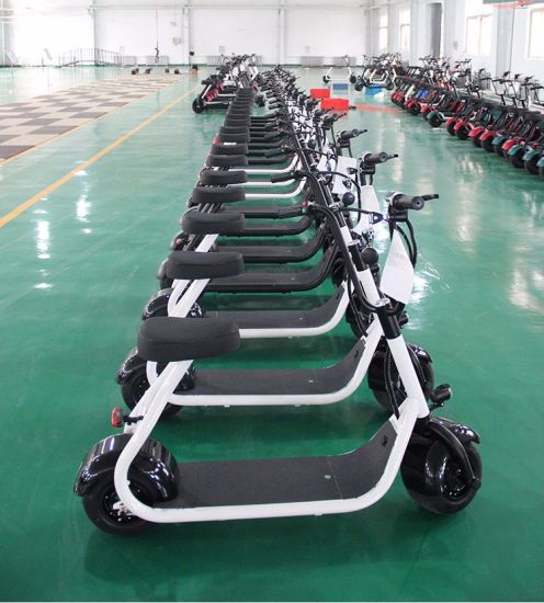 Lithium Battery Aluminium Pedal Sensor Control Electric Scooter pictures & photos
