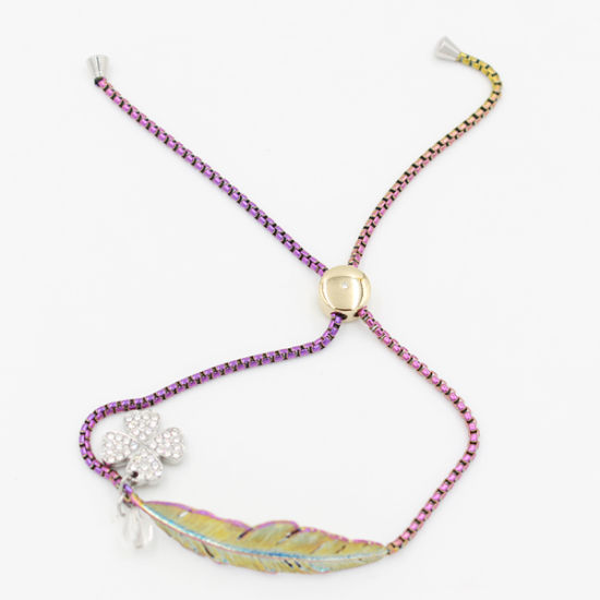 Rainbow Color Adjustable Leather Charm Bracelet Fashion Jewelry pictures & photos