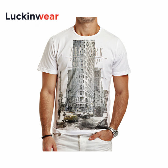 Wholesale Good Quality 100 % Cotton 180GSM Round Neck Men Printing T Shirts