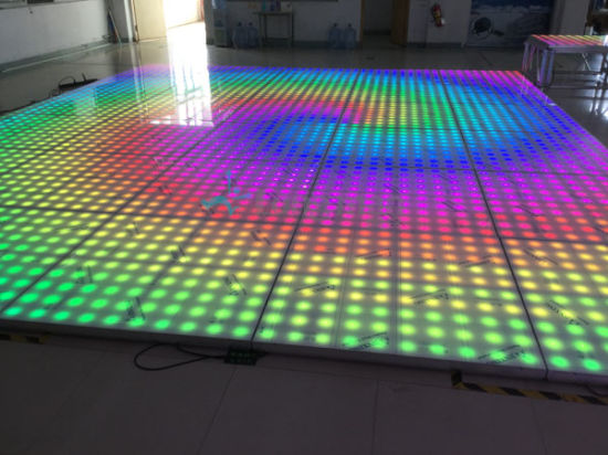 100 Pixel 1220*1220mm LED Video Dance Floor for Bar pictures & photos