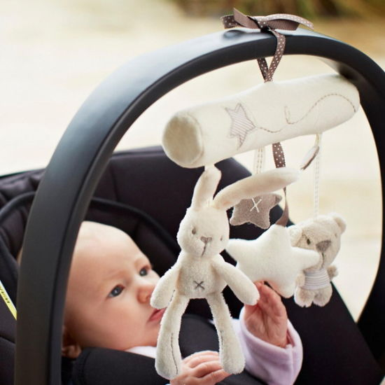 Plush Baby Hanging Toy with Sound for Newborn Set