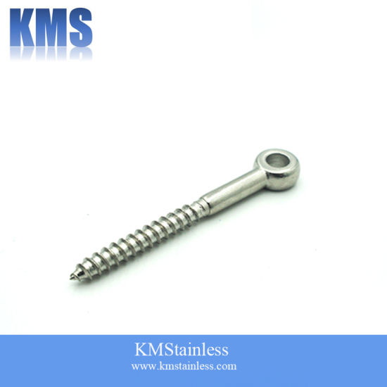 Stainless Steel Lag Eye Screw with Small Head