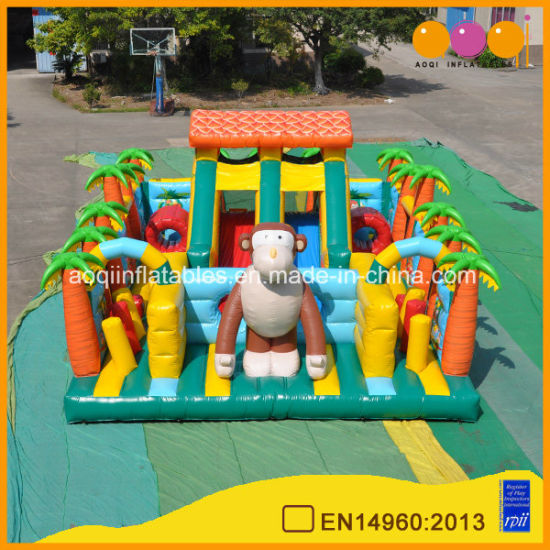 Newest Design of Inflatable Fun Land Monkey's Home Inflatable Fun City (AQ0179)