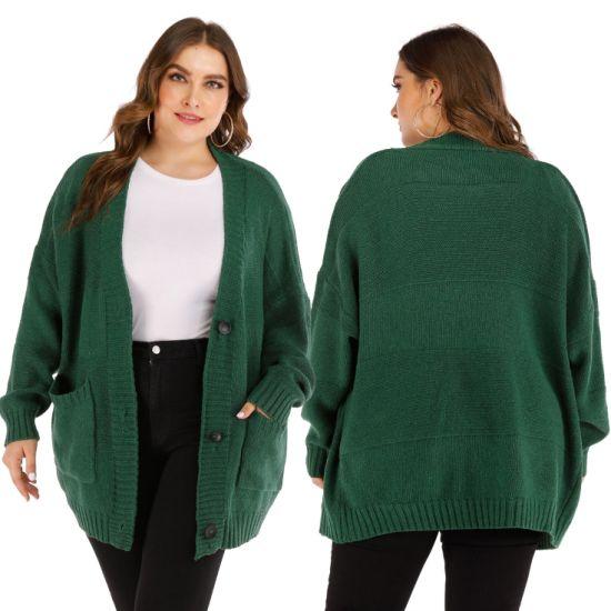 Winter Fashion Jacket Plus Size Women Casual Cardigan Sweaters