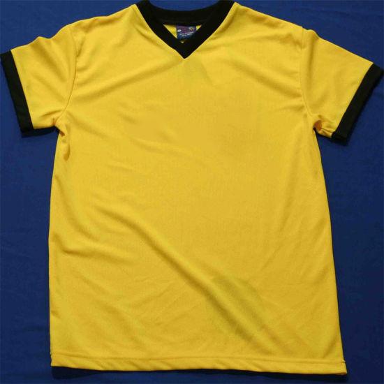 ba48188a6d1 China 100%Cotton Unisex Blank Yellow Crew Neck Men′s Short Sleeve T ...