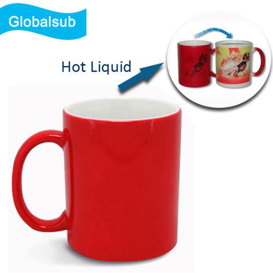 china creative printable thermal red magic color change mug china