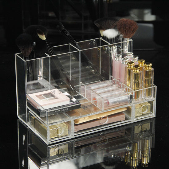 China Big Acrylic Clear Cube Makeup