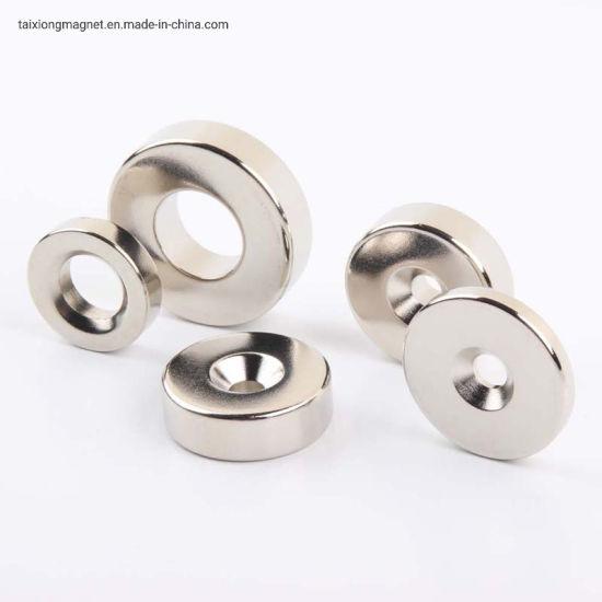 China Supplier N52 Ni Coating Powerful Thin Ring Neodymium Magnet