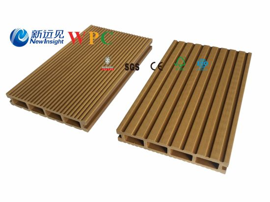 146*24mm Lhma064 Wood Plastic Composite Decking with CE, Fsg SGS, Certificate
