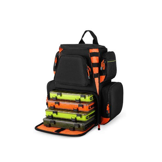 High Capacity Fishing Tackle Backpack Camping Travel Climbing Waterproof Tackle Bag