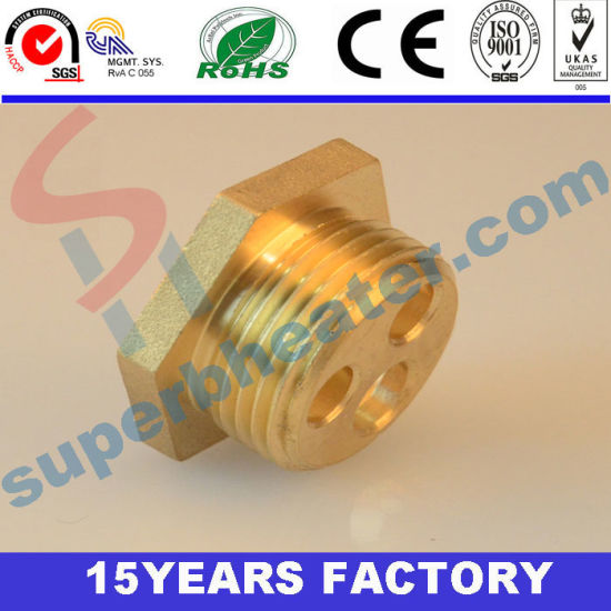 High Precision Hexagon Brass of Heating Flange, Brass Accessories pictures & photos