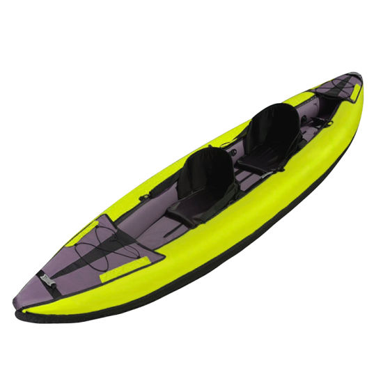 Wholesale PVC and Polyester Inflatable Kayak 2 Person Boat Fishing Boat