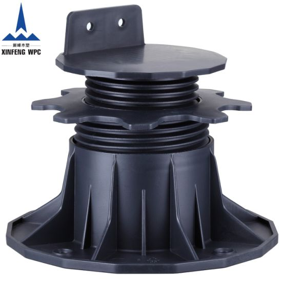 Strong Bearing Capacity Plastic Pedestals with Range 65-145mm for Deckings