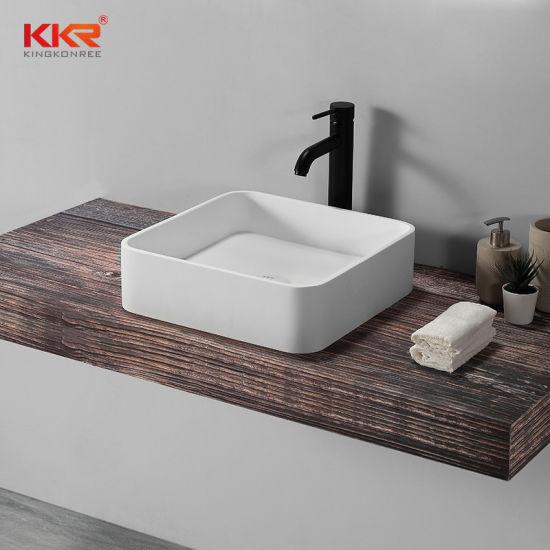 Modern Lavatory Resin Stone Bathroom, Bathroom Sink And Countertop