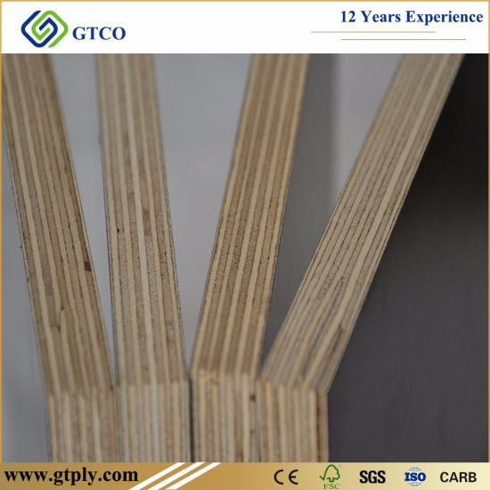 1250X2500X21mm Phenolic Brown Film Faced Plywood for Concrete Formwork
