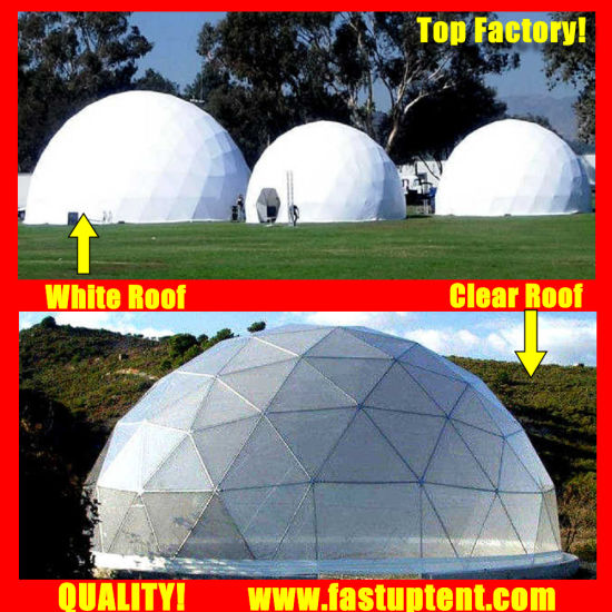 Popular Transparent Diameter 8m Geodesic Dome Tent for Party