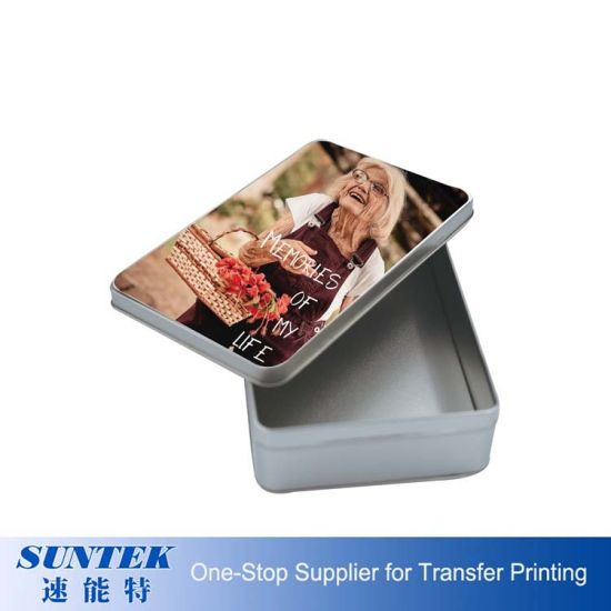 Good Quality Heat Transfer Custom Tin Box Square Shape