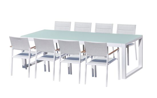 Rattan Outdoor Furniture Aluminum Frame Garden Dining Set