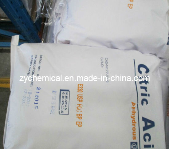 Citric Acid Anhydrous Bp98/E330 in Food and Beverage Industry pictures & photos
