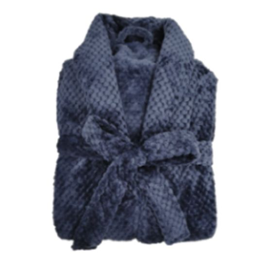 Manufacturer Texpro 2021new Recycled Bath Robe High Quality for Hotel /Home /SPA Solid Diamond Flannel Robe