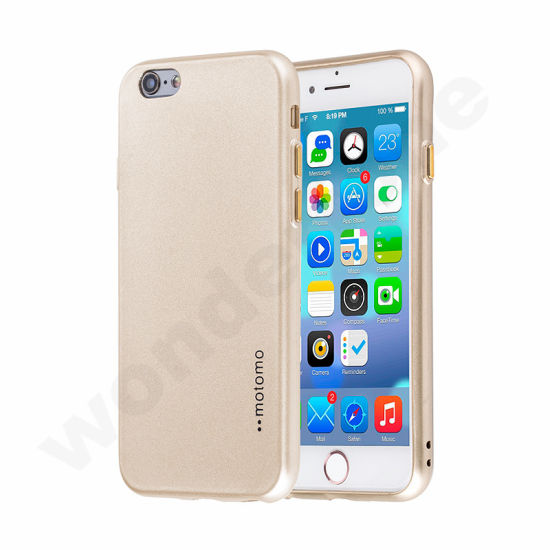 Motomo Oil Spouting TPU Case with Electroplating Button-Golden
