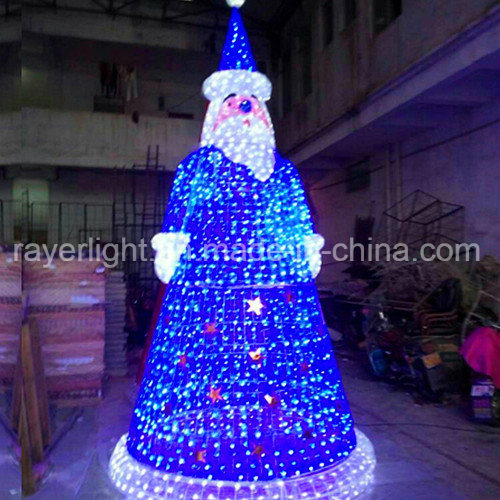 4m Christmas Ornaments LED Large Santa Lighting Decoration