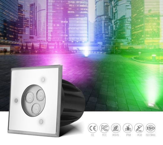 3W 24V Stainless Steel Professional Underground Lighting LED Ground Pool Lighting