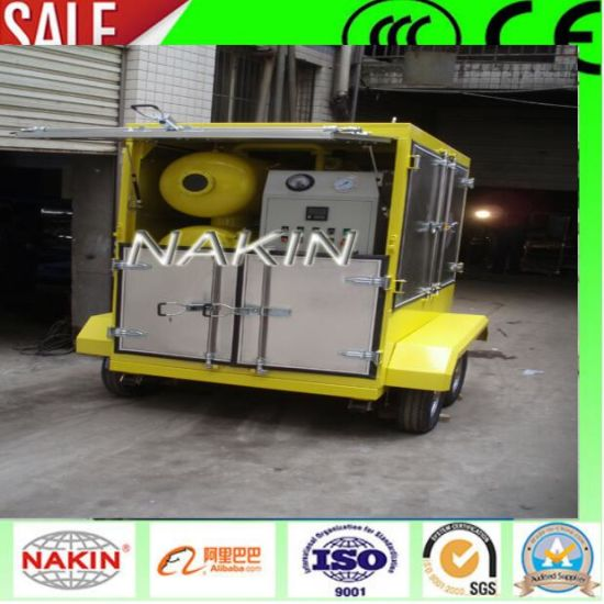 Mobile Type Vacuum Transformer Oil Purifier with Trailer (1800L/H) pictures & photos